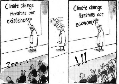 Cartoon: Climate change threatens our existence and economy