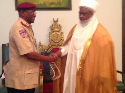 Photos; FRSC Takes Road Safety Campaign To Sokoto, Meets With Sultan And His Cabinet