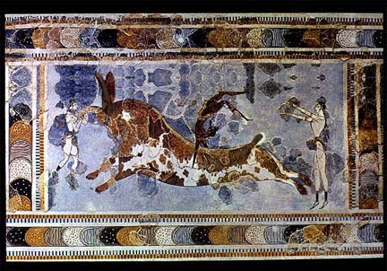 minoan bull fighting