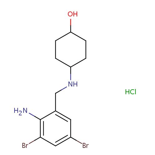 Struktur Kimia Ambroxol (Ambroksol) HCl