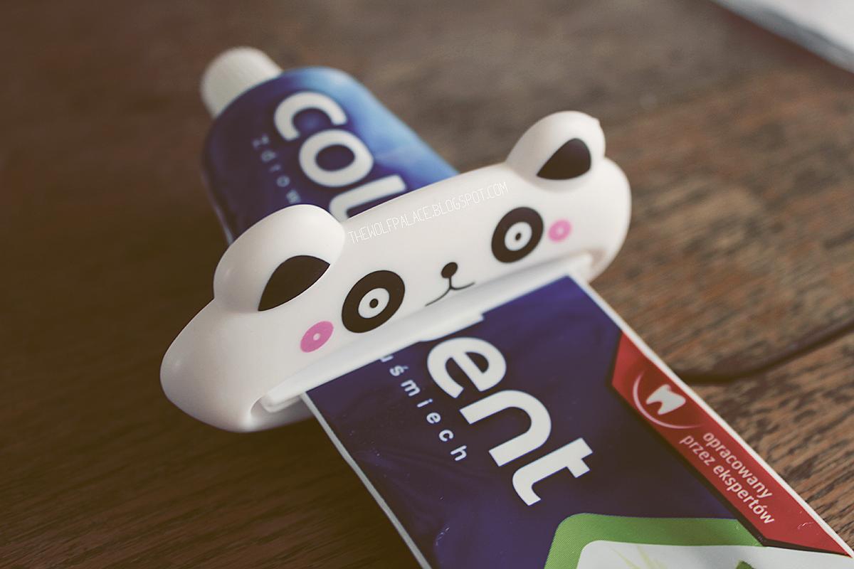 | wyciskarka do pasty | pasta do zębów | panda | urocze gadżety | wyciskarka panda | colodent