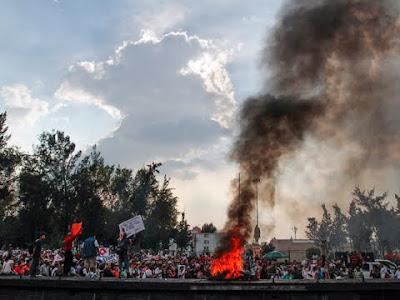 protestas por reforma laboral en Mexico