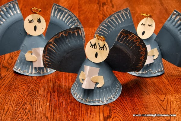 Paper Plates & How to Recycle: Recycled Little Christmas Angels