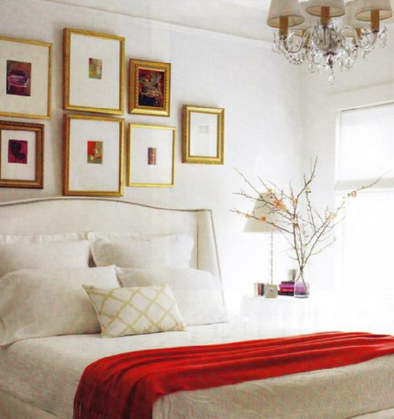 A simple kind of life guest room color scheme for Red and gold bedroom designs