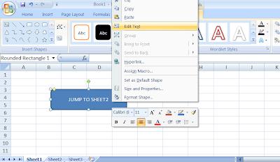 Jump Between Sheets in Excel