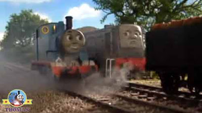 Help Thomas diesel Dennis the train cried over heating really useful tank engine Thomas's day off