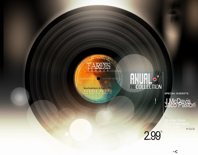 sticker vinyl - photorealistic design - пластинка