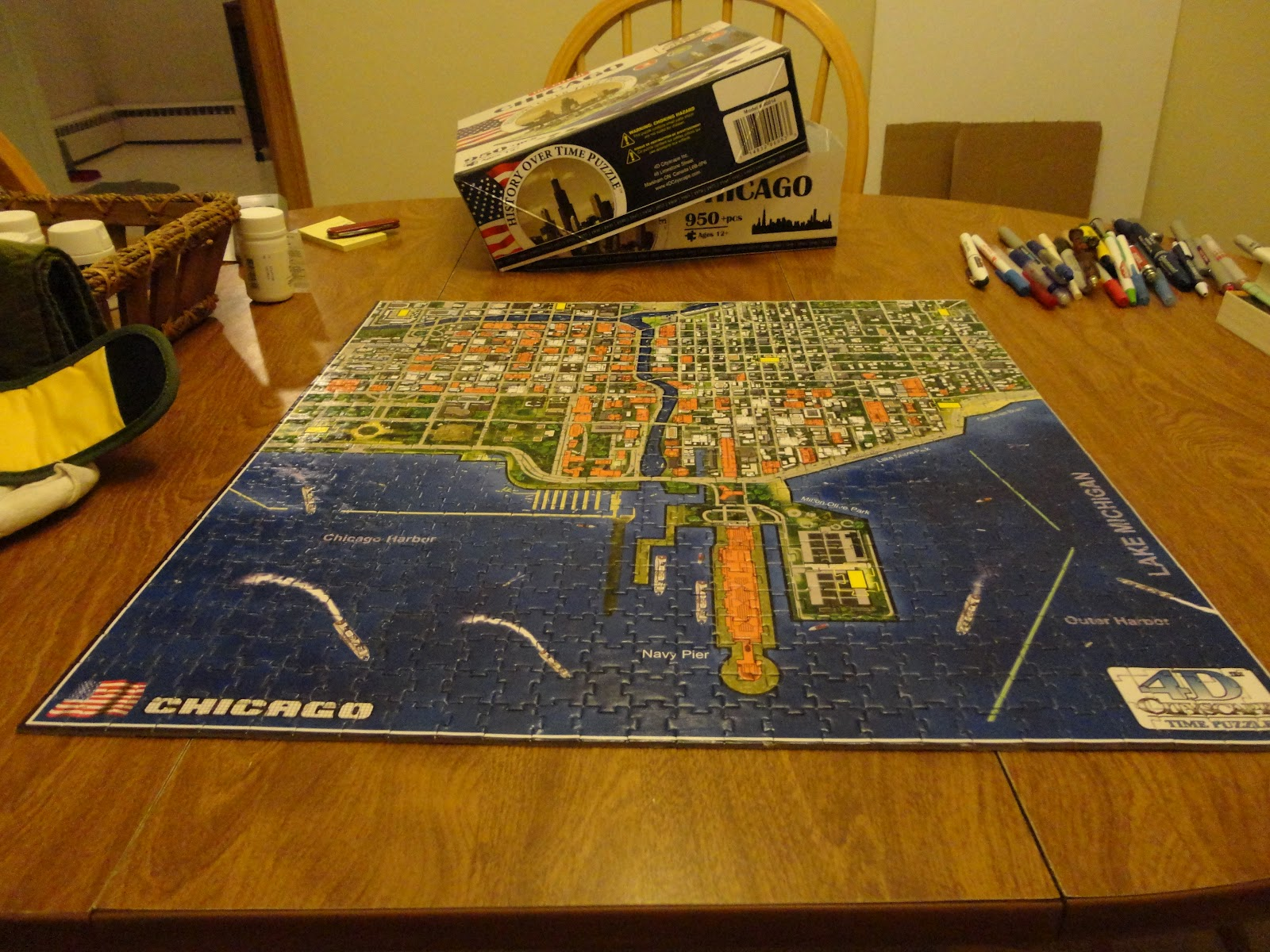 The Timblog Puzzling Skyline - Chicago map puzzle