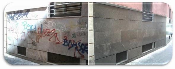 Limpieza de graffitis y fachadas