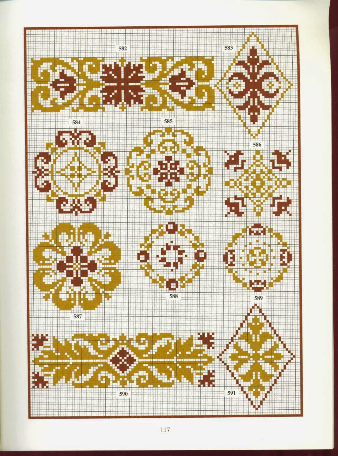 Схемы вышивки крестом восточные узоры