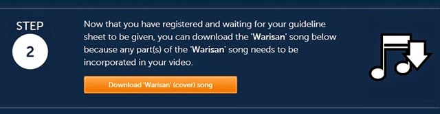 Step 2: Download the Warisan cover song, to incorporate into your video