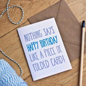 Ma Bicyclette - Buy Handmade - Birthday Cards - Folded Card