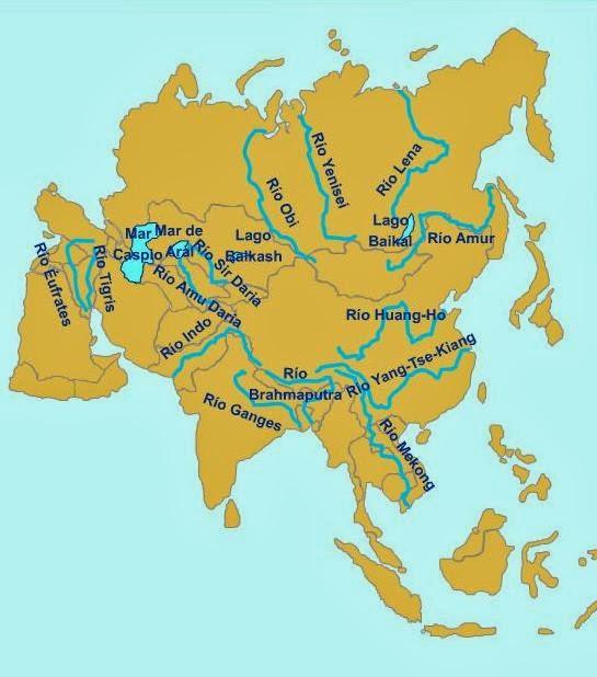 Mapas De Rios De Asia