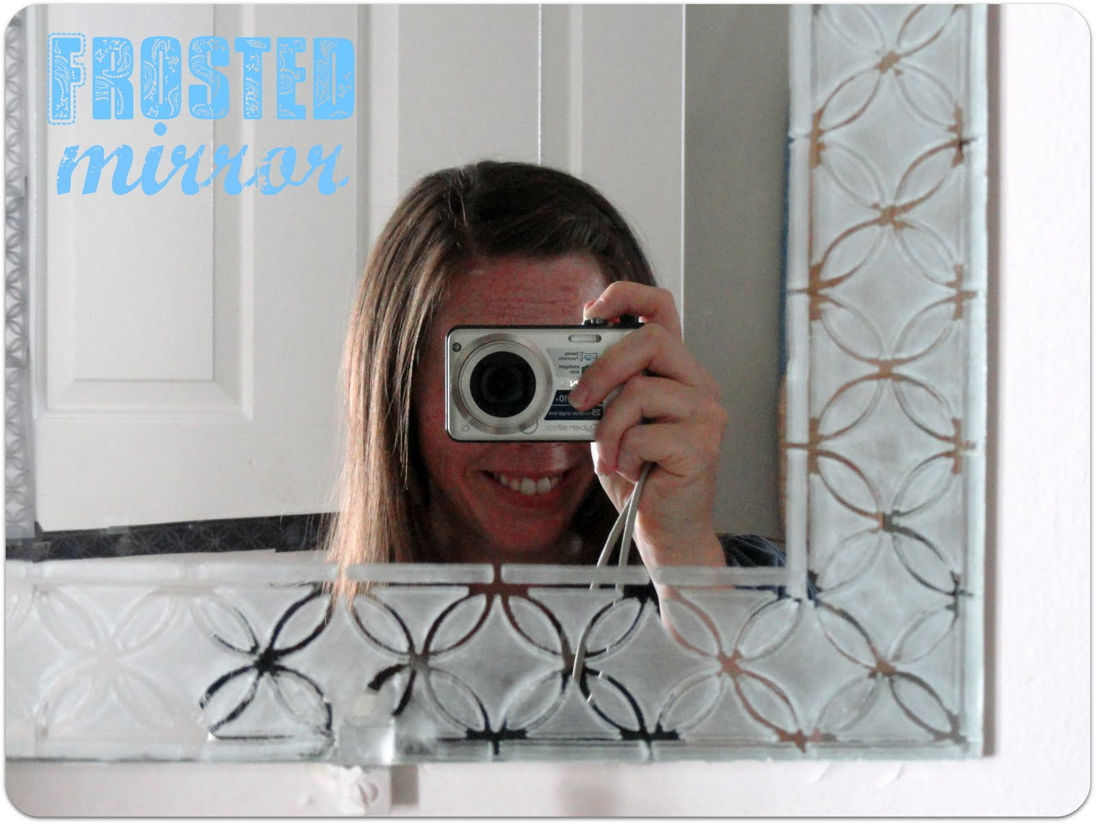 Mirror In My Guest Bathroom You Know The Big Rectangle Pretty Much Just Glued To Wall I Have Been Wanting Spruce It Up For A While Now And This