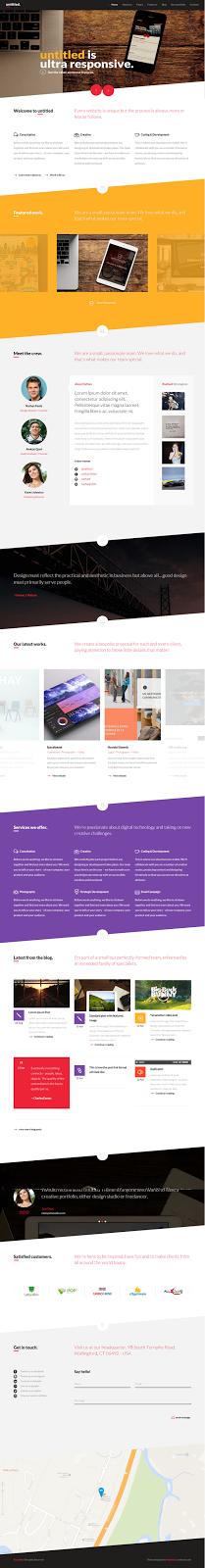 WordPress Multipurpose Template free