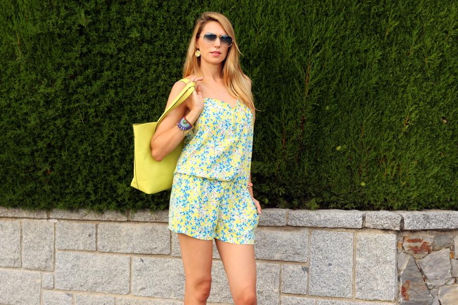 promod flower print jumpsuit