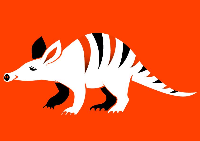Aardvark print - Jen Haugan animation