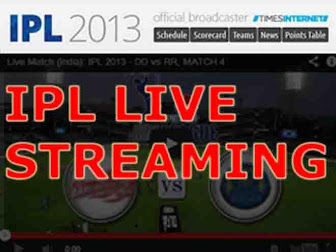 Watch ipl live match on mobile and computer