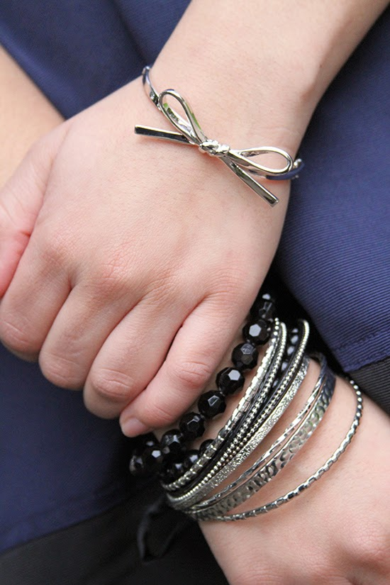 Kate Spade Silver Bow Arm Party