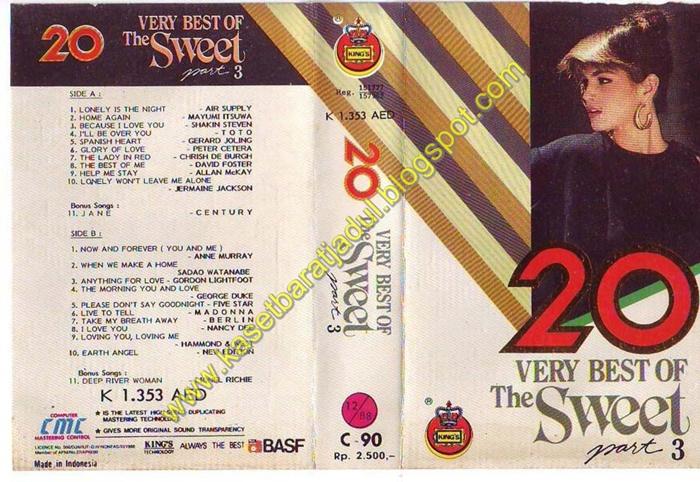 ya beginilah kaset kompilasi pada era 70 80 an dalam satu kaset hanya