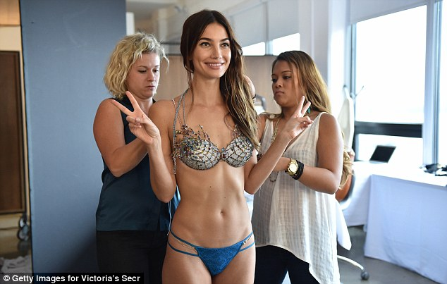 Lily Aldridge sizzles for the VS Fantasy Bra 2015 shoot