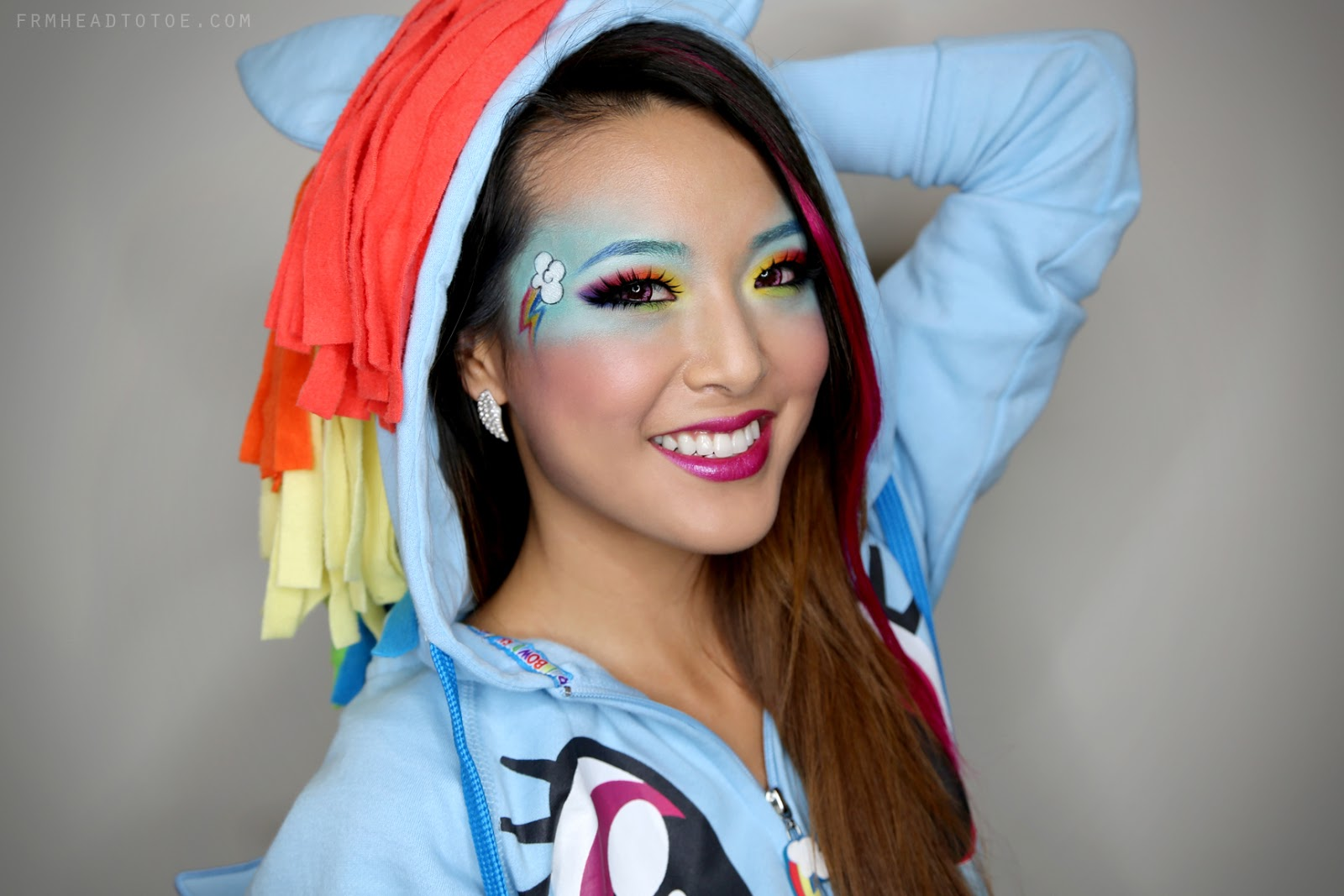 MLP Stuff Rainbow Dash Makeup Tutorial Be A Pretty Pony