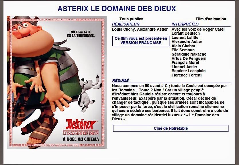 ASTERIX, LE DOMAINE DES DIEUX