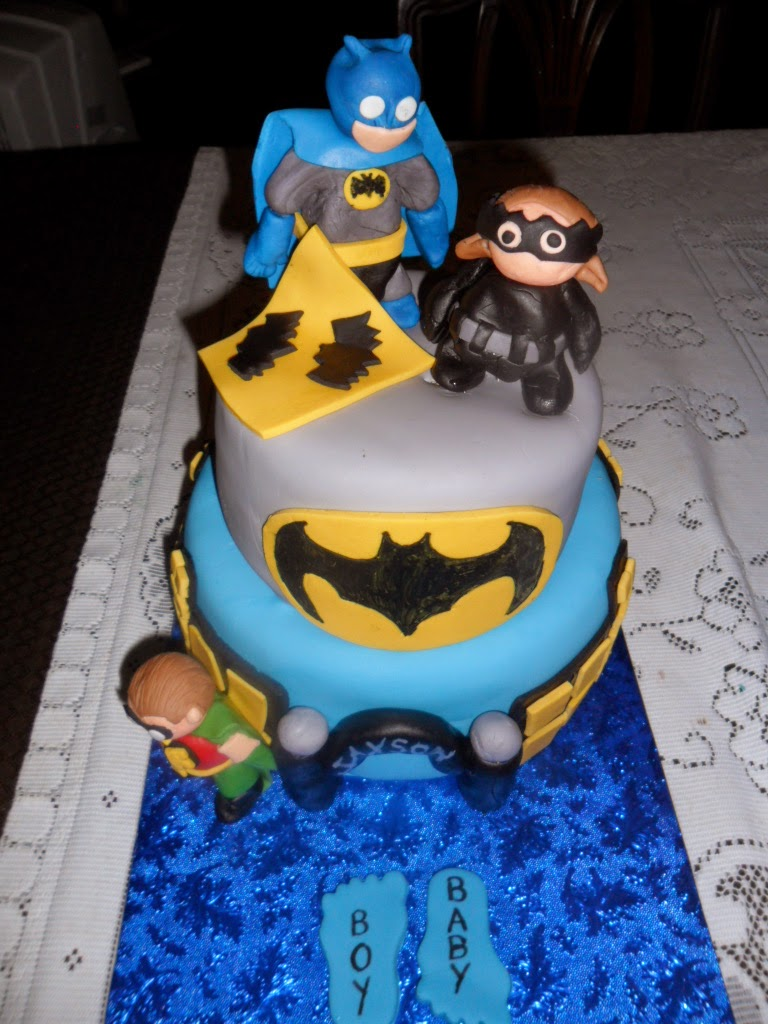 batman themed cake for a baby shower i had a blast doing these baby