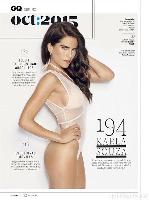 Karla Souza Revista GQ México Octubre 2015