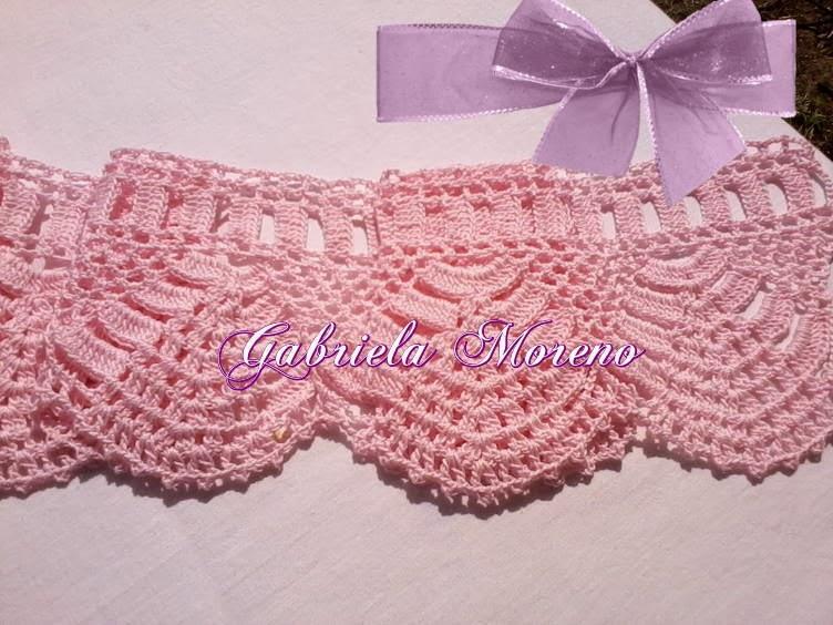 Mis Pasatiempos Amo el Crochet: Puntilla Rosa para cortinas y repisas