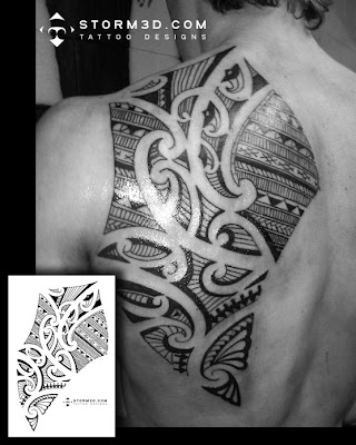 shoulderblade maori tattoo design flash pictures