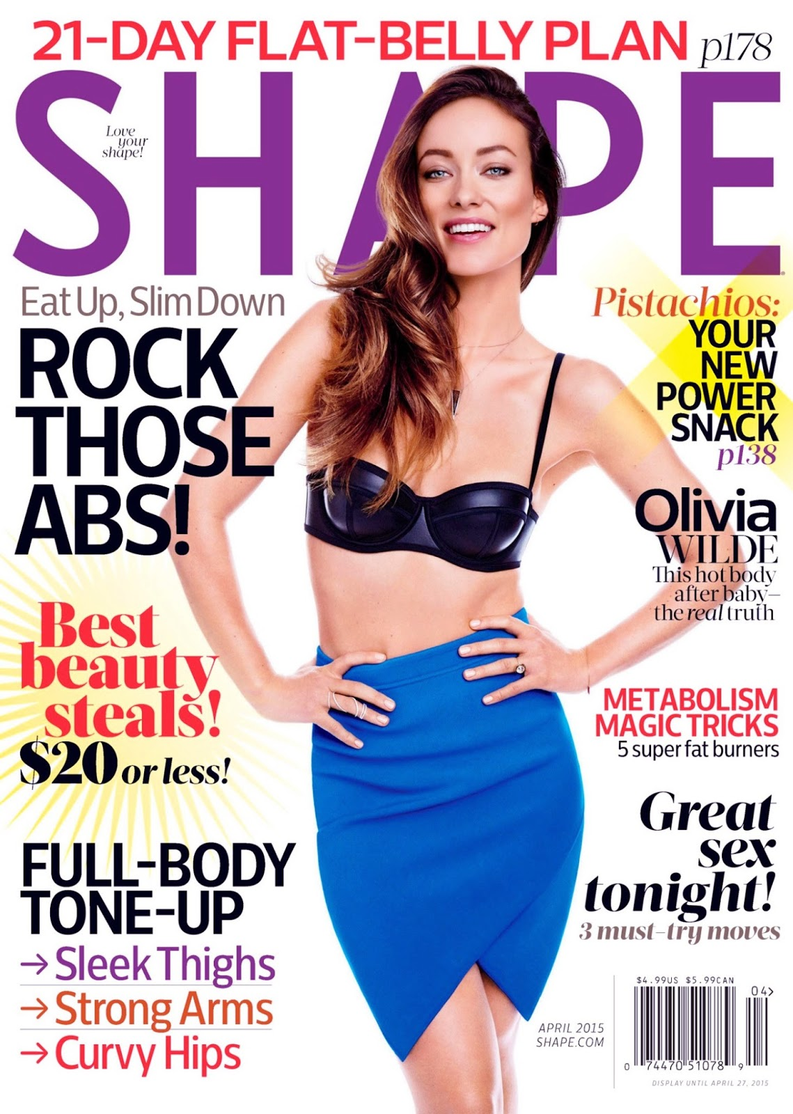 Actress, Model @ Olivia Wilde - Shape Magazine 2015