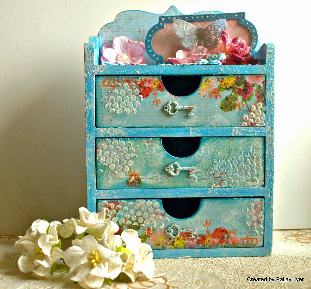 Shabby mixed media altered dresser
