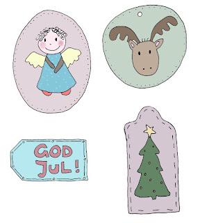 Geschenkanhänger Weihnachten zum kostenlosen Ausdrucken / free printable xmas