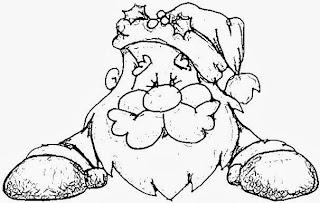 Dibujos de Santa Claus para Pintar, parte 2