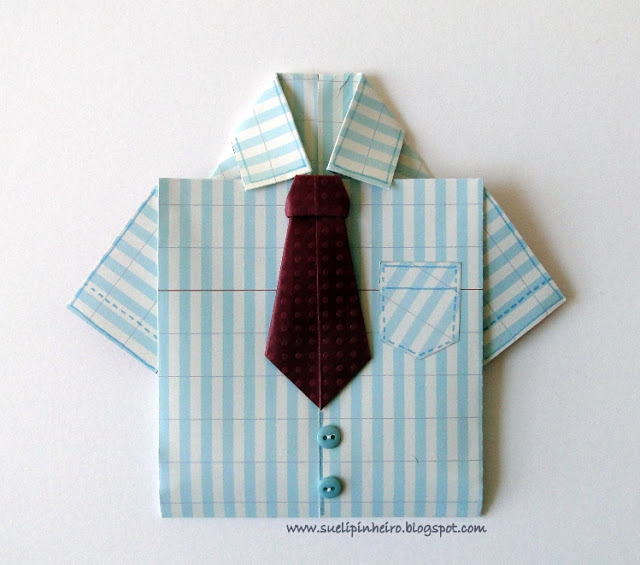 Tarjeta camisa para papá