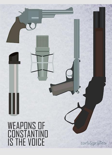 ilustracion,homenaje a Constantino Romero,harry el sucio,007,darth vader,terminator,
