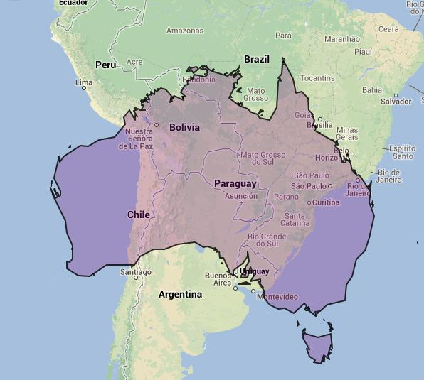 online maps the size of australia