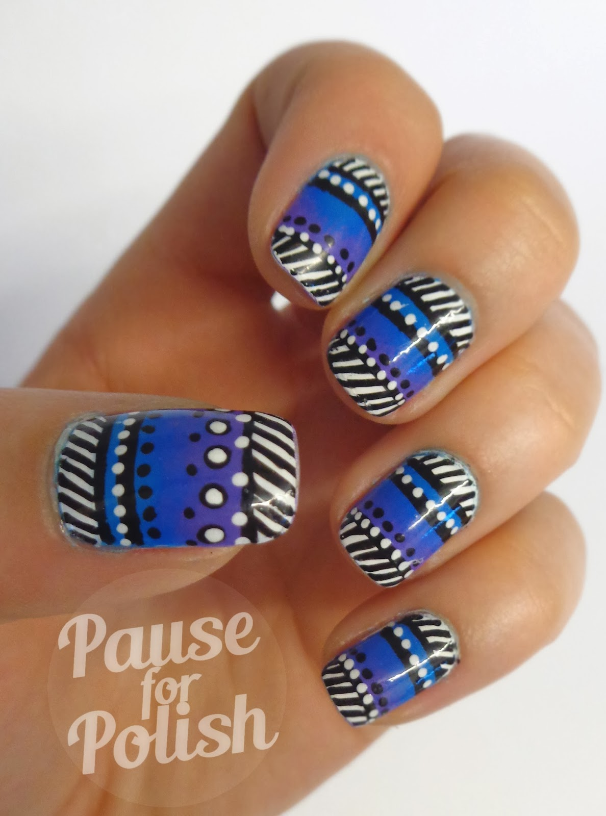 Pause For Polish: Claire\'s Accessories Neon Purple Nail Art!
