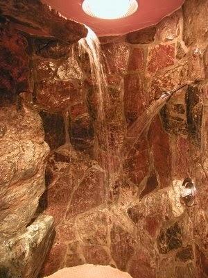 waterfall showers - interiors & exteriors.