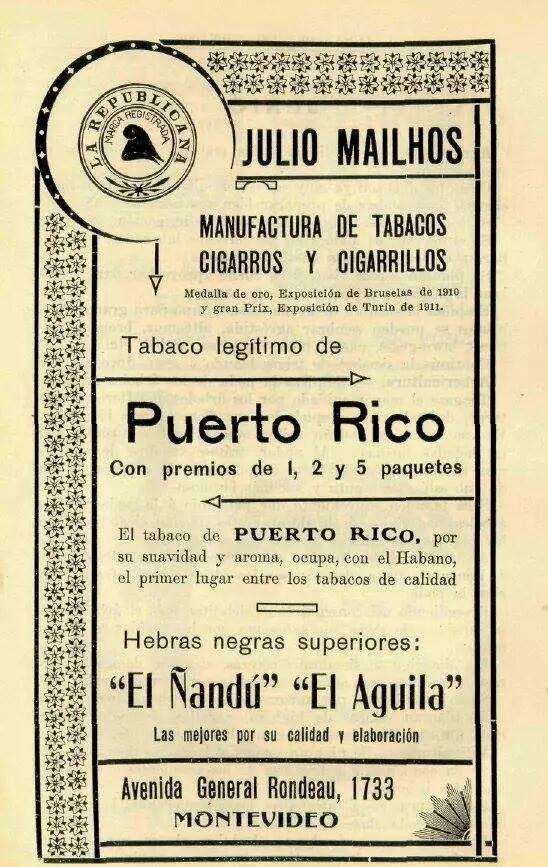 Tabaco en hebra Ñandu y El aguila