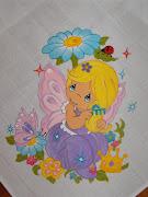 Pintura em Fralda Fada. Publicada por LiliSteph manas à(s) 15:56