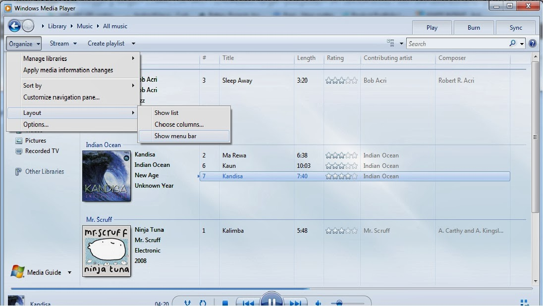 how to add songs from computer to windows media player