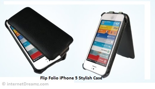 flip folio leather iphone 5 covers