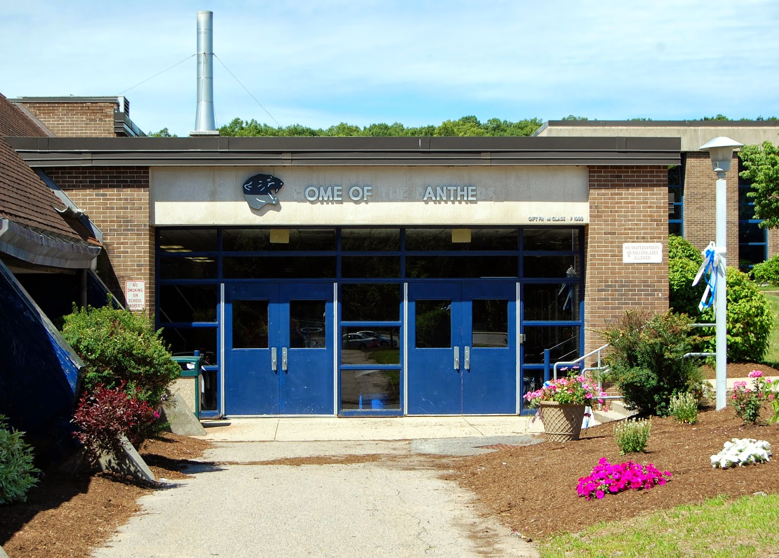 entrance to the field house at Franklin High School