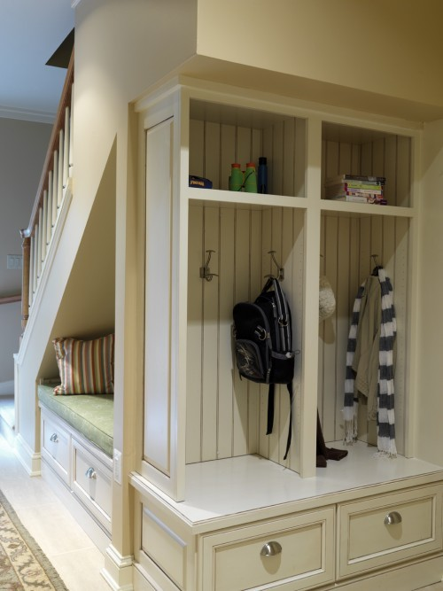 wicker stitch clever under stair storage idea. Black Bedroom Furniture Sets. Home Design Ideas