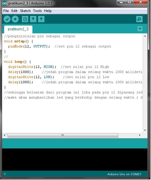 Pengendalian arduino uno digital input output