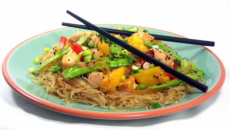 Asian Noodles With Chicken And Pineapple Recipes — Dishmaps