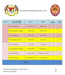 Kalendar Persekolahan 2012