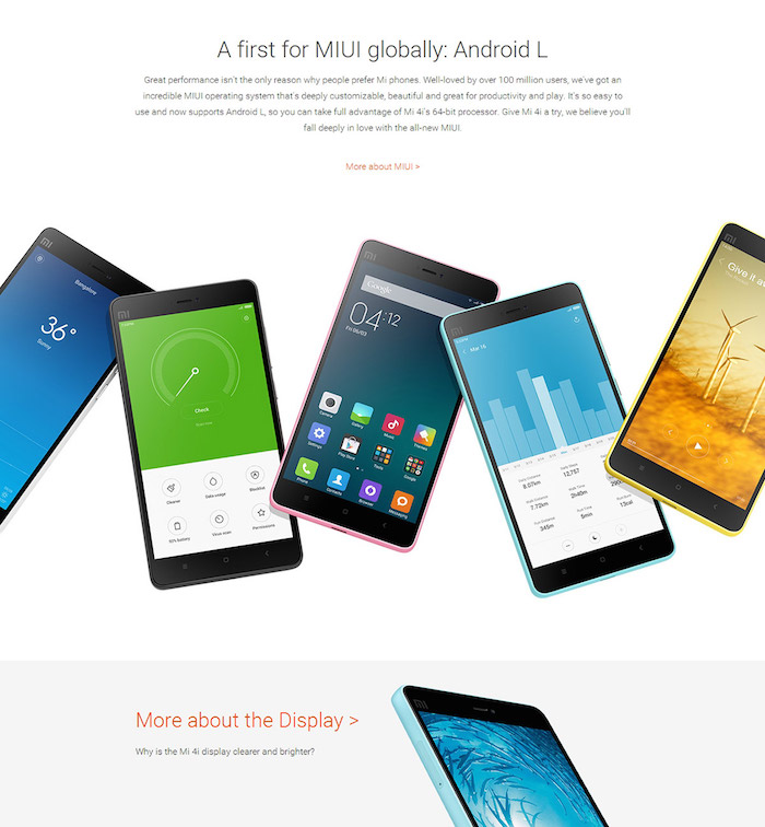 Grab Xiaomi Mi4i Phablet at Smart Rates on Volumebest